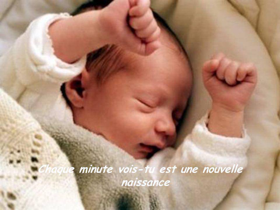Chaque minute vois-tu est une nouvelle naissance
