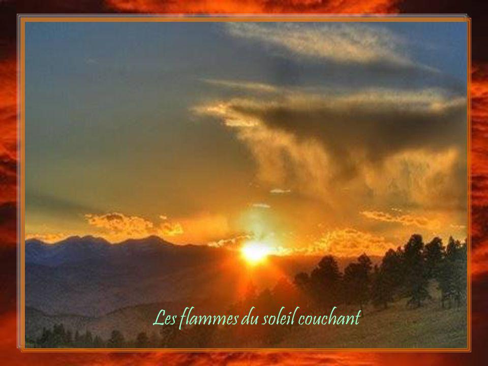 Les flammes du soleil couchant