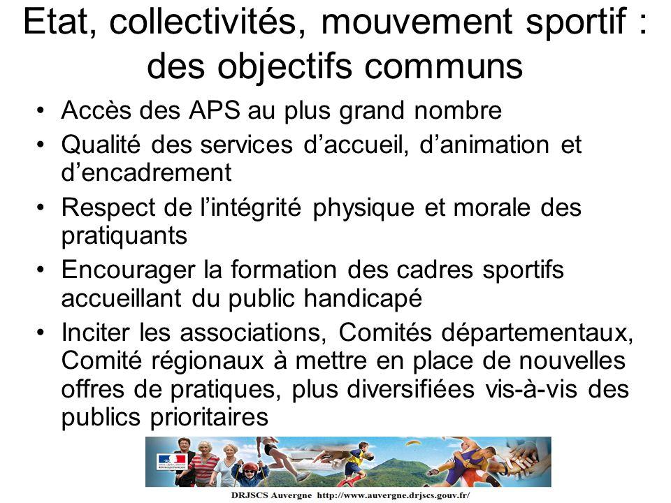 Etat, collectivités, mouvement sportif : des objectifs communs
