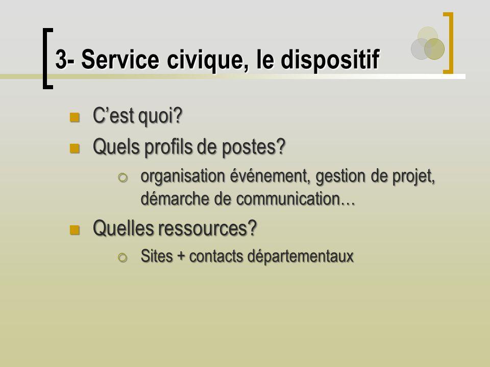 3- Service civique, le dispositif