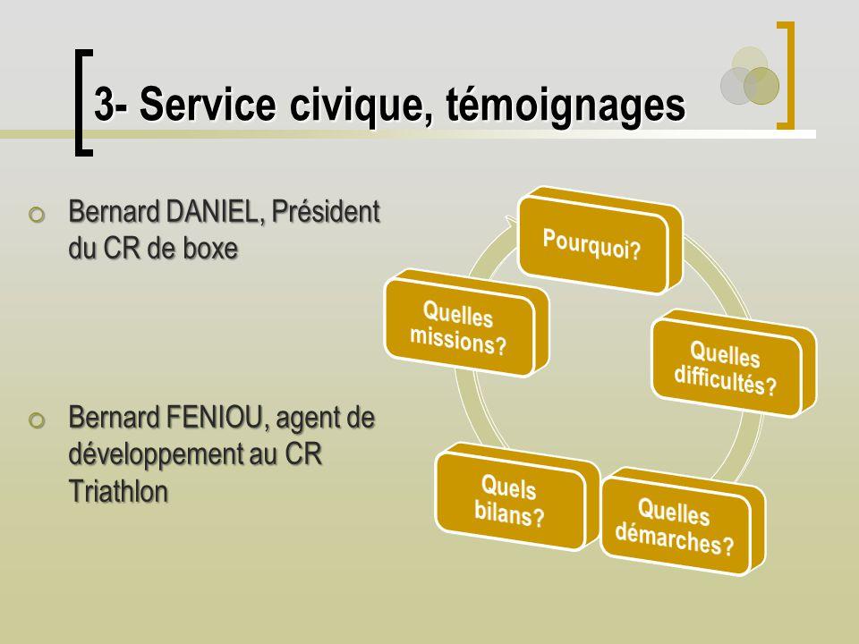 3- Service civique, témoignages