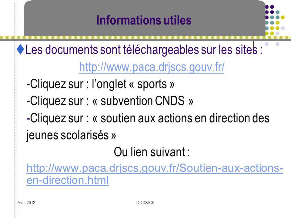 Les documents sont téléchargeables sur les sites :