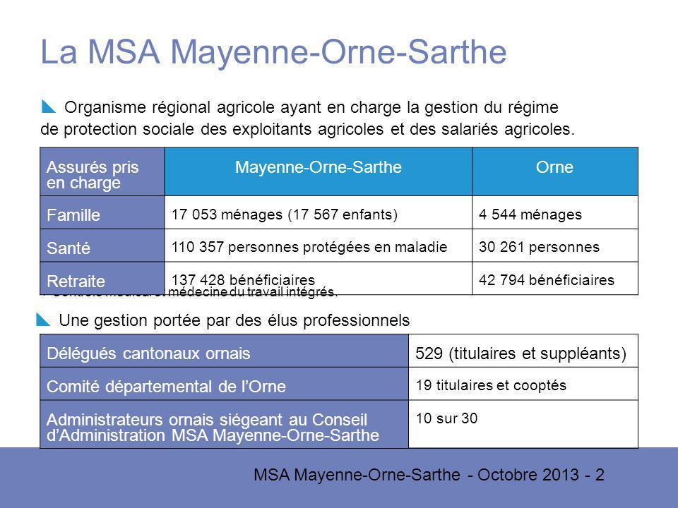 La MSA Mayenne-Orne-Sarthe