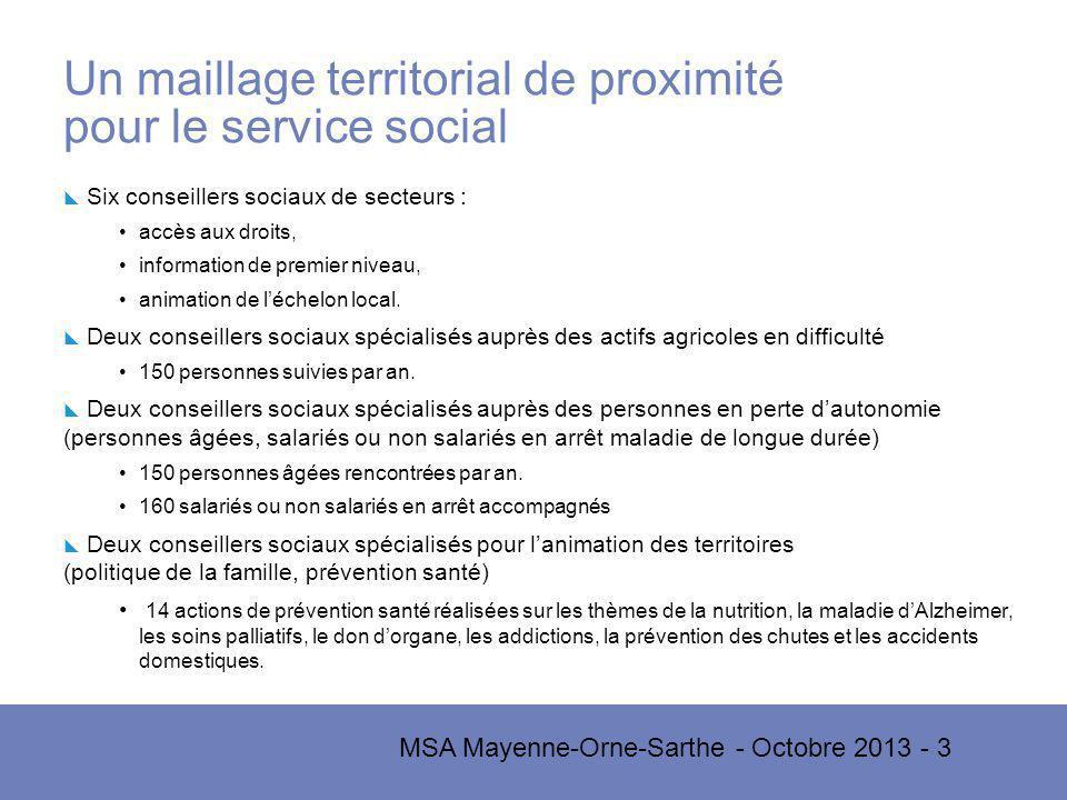 Un maillage territorial de proximité pour le service social