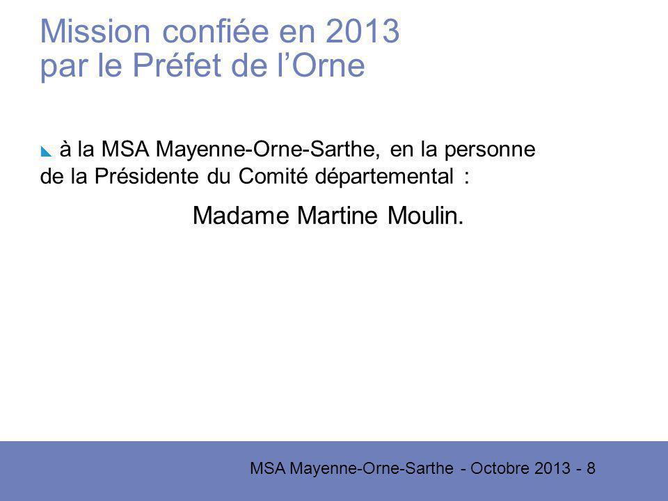 Mission confiée en 2013 par le Préfet de l'Orne