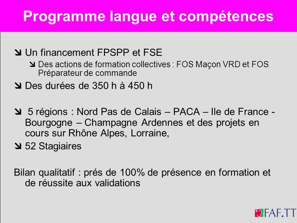 Programme langue et compétences