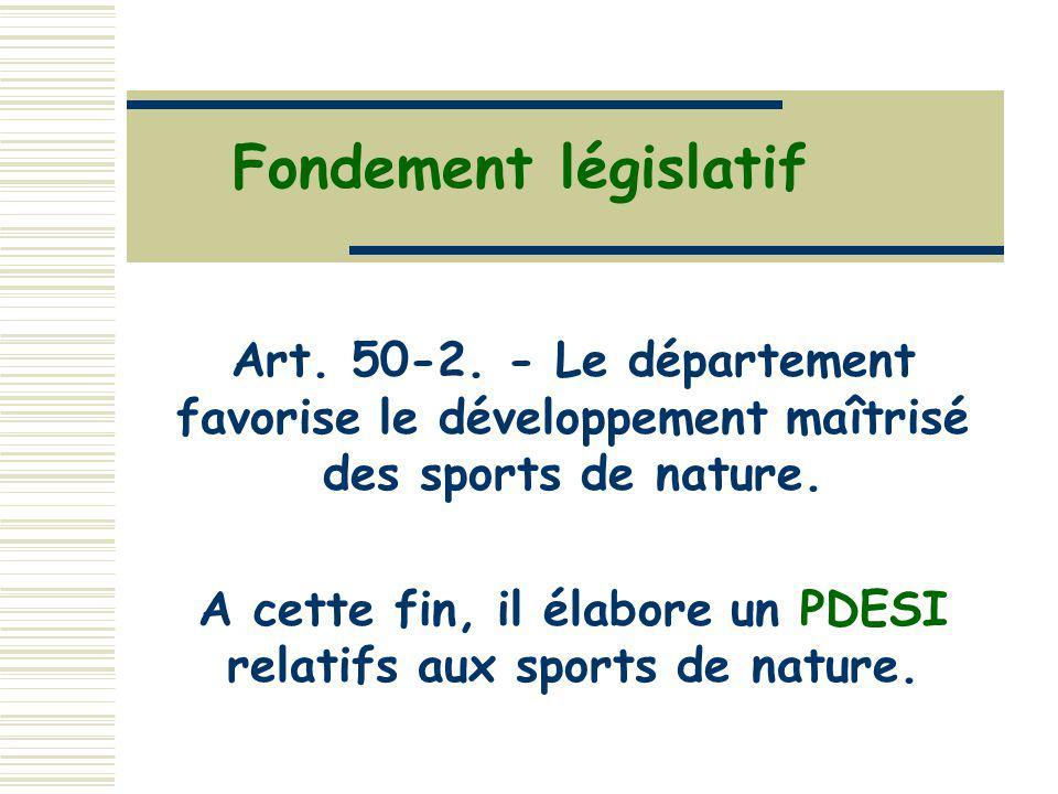 A cette fin, il élabore un PDESI relatifs aux sports de nature.