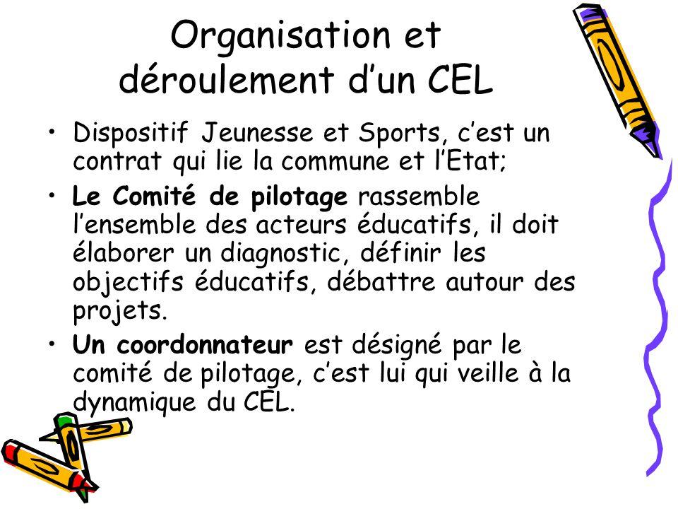 Organisation et déroulement d'un CEL