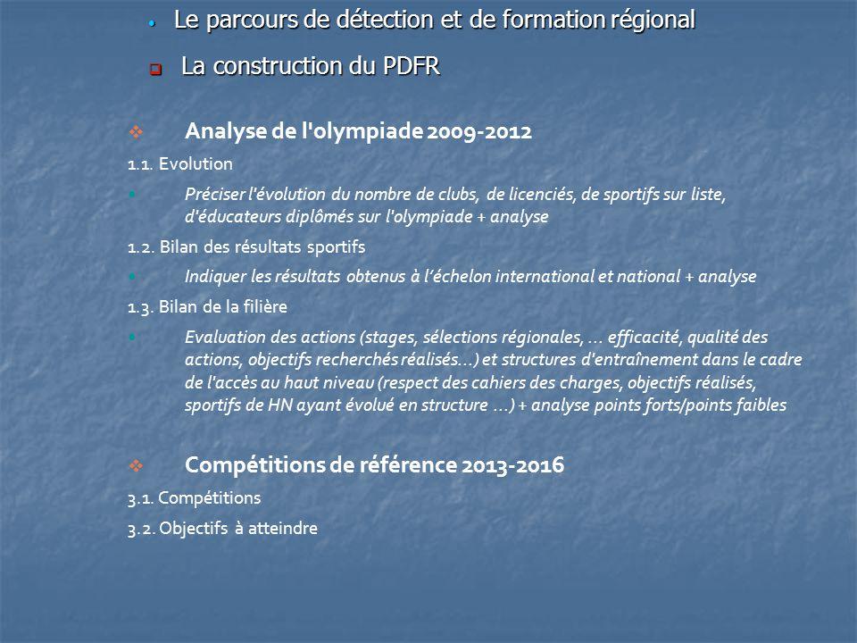 Le parcours de détection et de formation régional