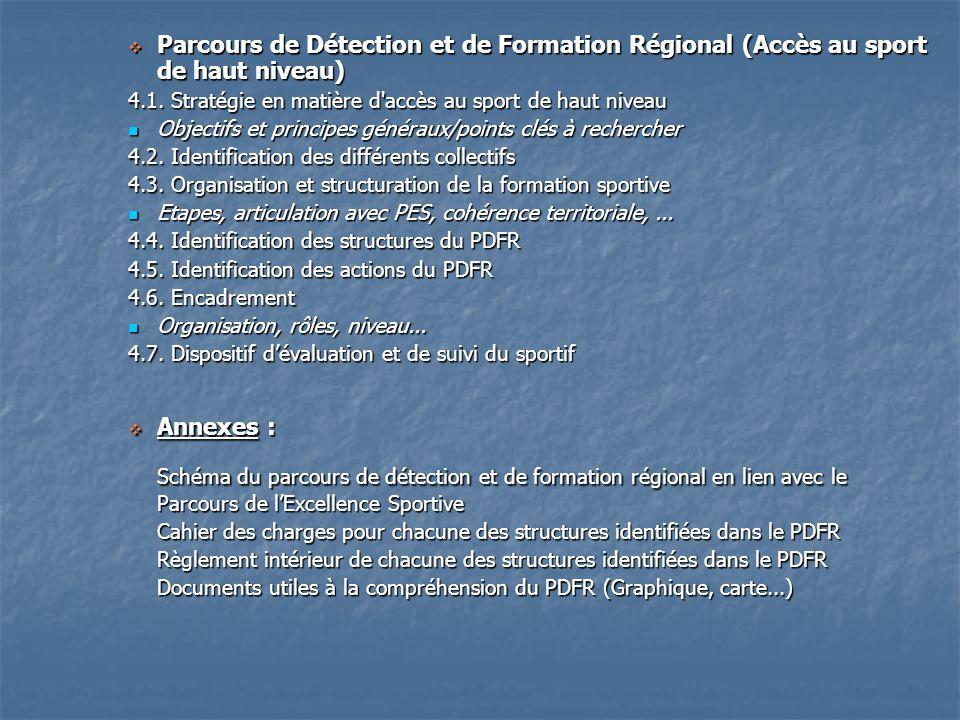 Parcours de Détection et de Formation Régional (Accès au sport de haut niveau)