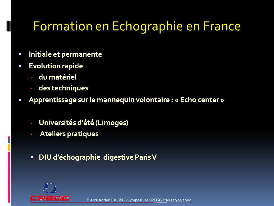 Formation en Echographie en France