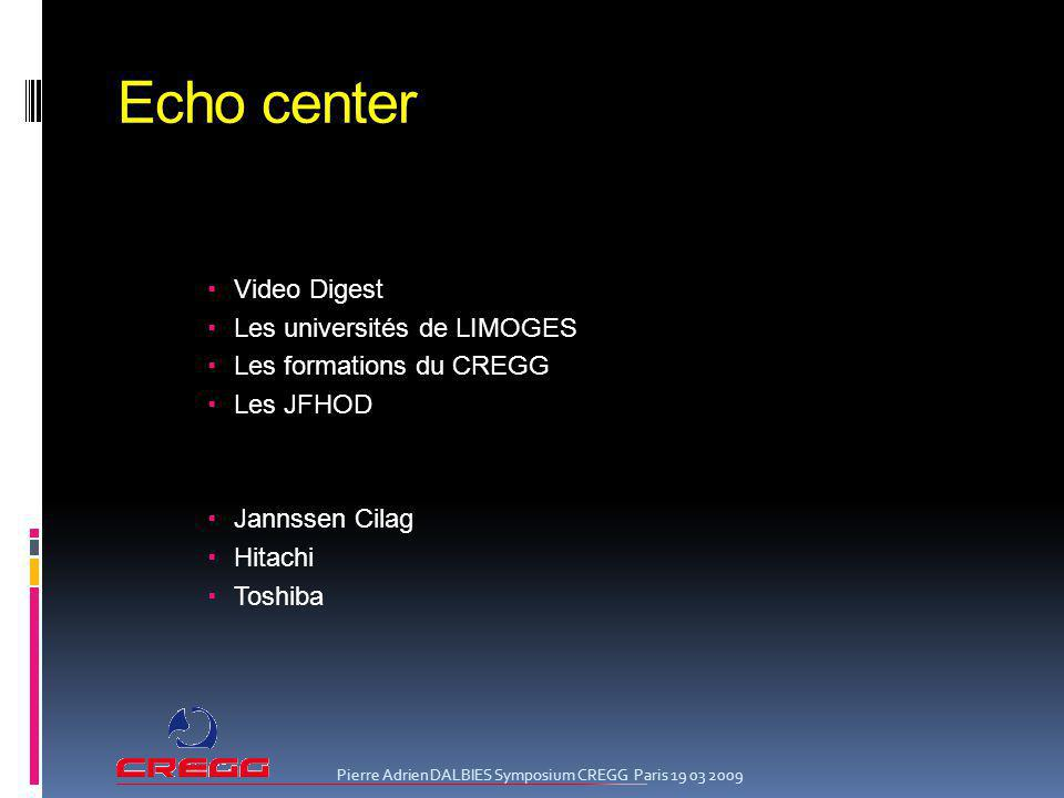 Echo center Video Digest Les universités de LIMOGES