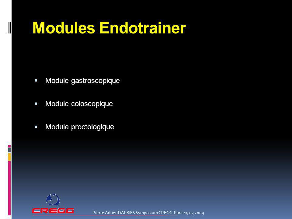 Modules Endotrainer Module gastroscopique Module coloscopique