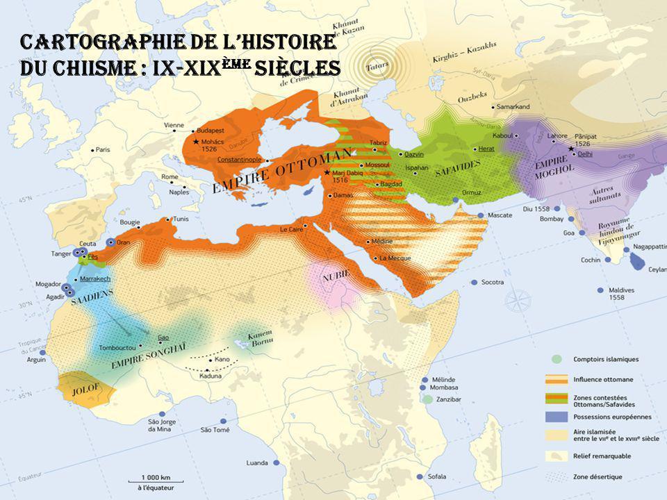 Cartographie de l'histoire du chiisme : IX-XIXème siècles