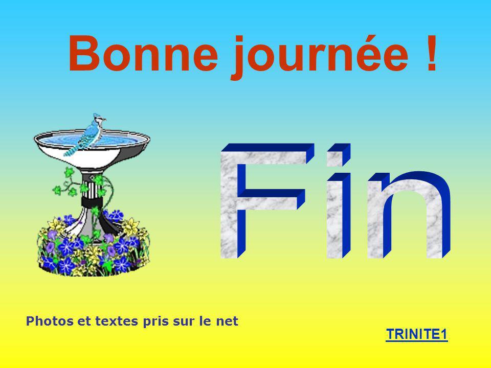 Bonne journée ! Fin Photos et textes pris sur le net TRINITE1