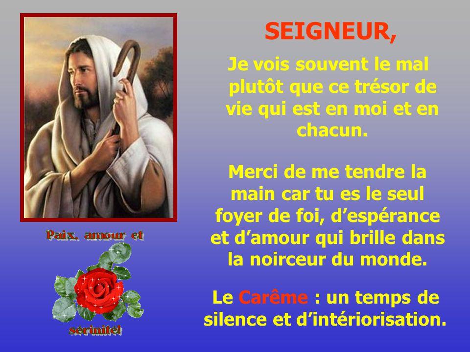 Le Carême : un temps de silence et d'intériorisation.