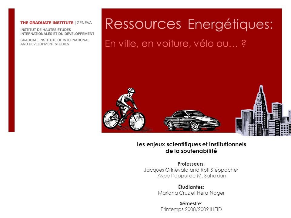 Ressources Energétiques: