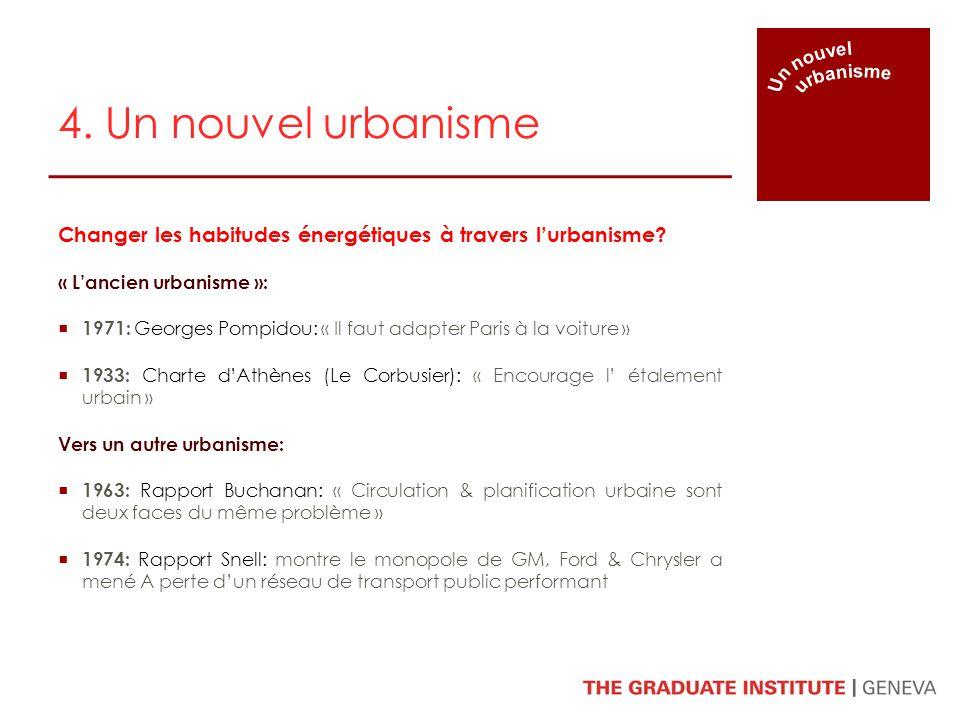 Un nouvel urbanisme. 4. Un nouvel urbanisme. Changer les habitudes énergétiques à travers l'urbanisme