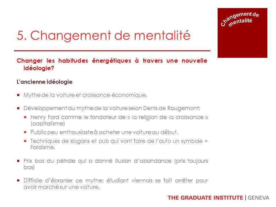 5. Changement de mentalité