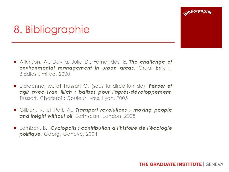 Bibliographie 8. Bibliographie.