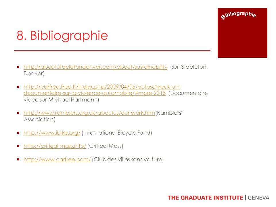 8. Bibliographie Bibliographie