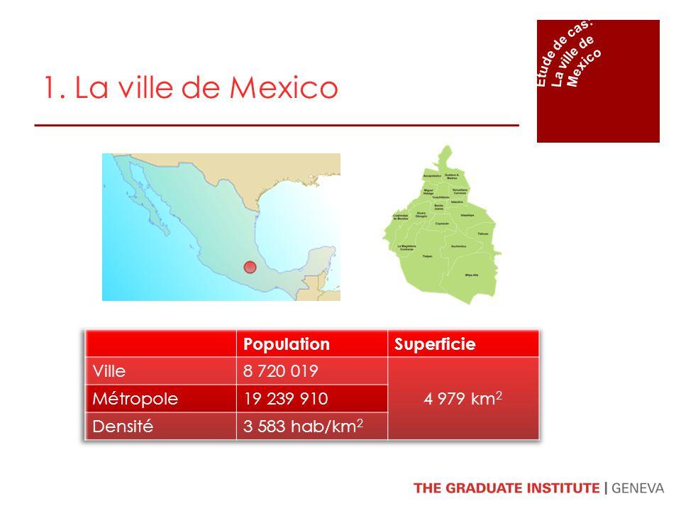 1. La ville de Mexico Population Superficie Ville 8 720 019 4 979 km2