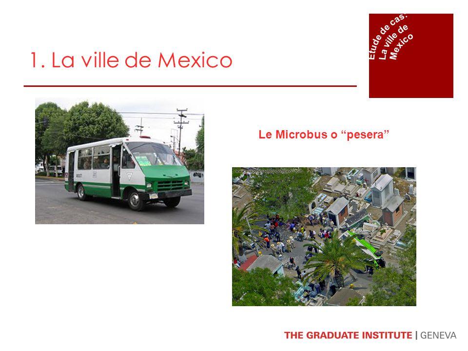 1. La ville de Mexico Le Microbus o pesera Étude de cas: La ville de
