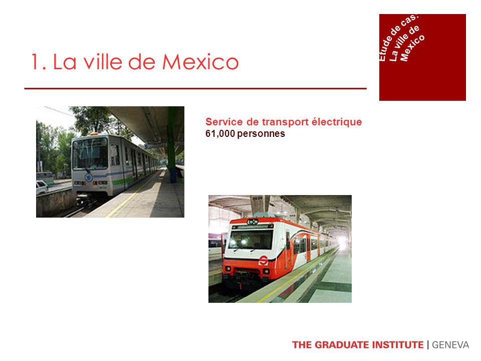 1. La ville de Mexico Service de transport électrique Étude de cas:
