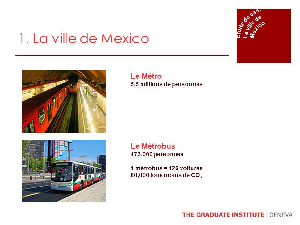 1. La ville de Mexico Le Métro Le Métrobus Étude de cas: La ville de