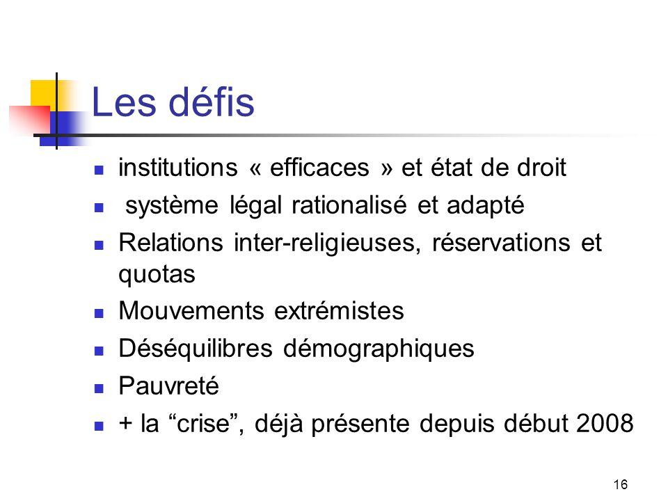 Les défis institutions « efficaces » et état de droit