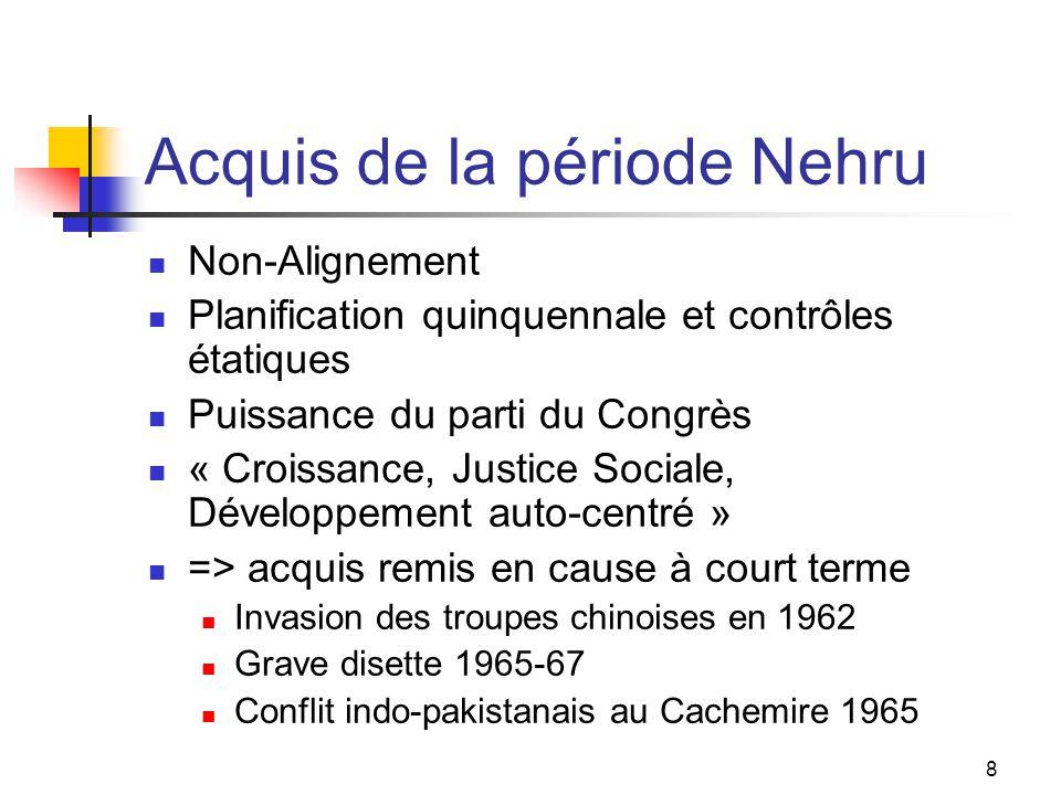 Acquis de la période Nehru