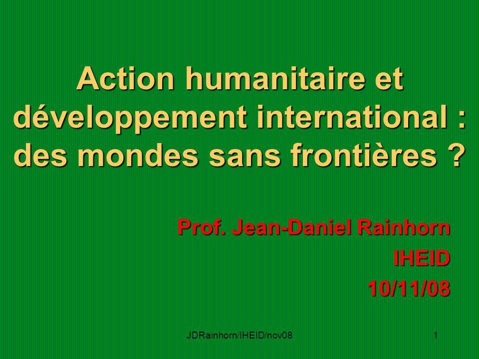 Prof. Jean-Daniel Rainhorn IHEID 10/11/08