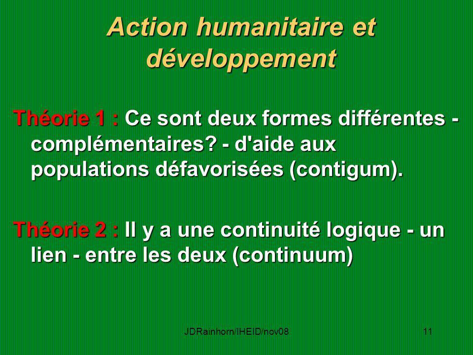 Action humanitaire et développement