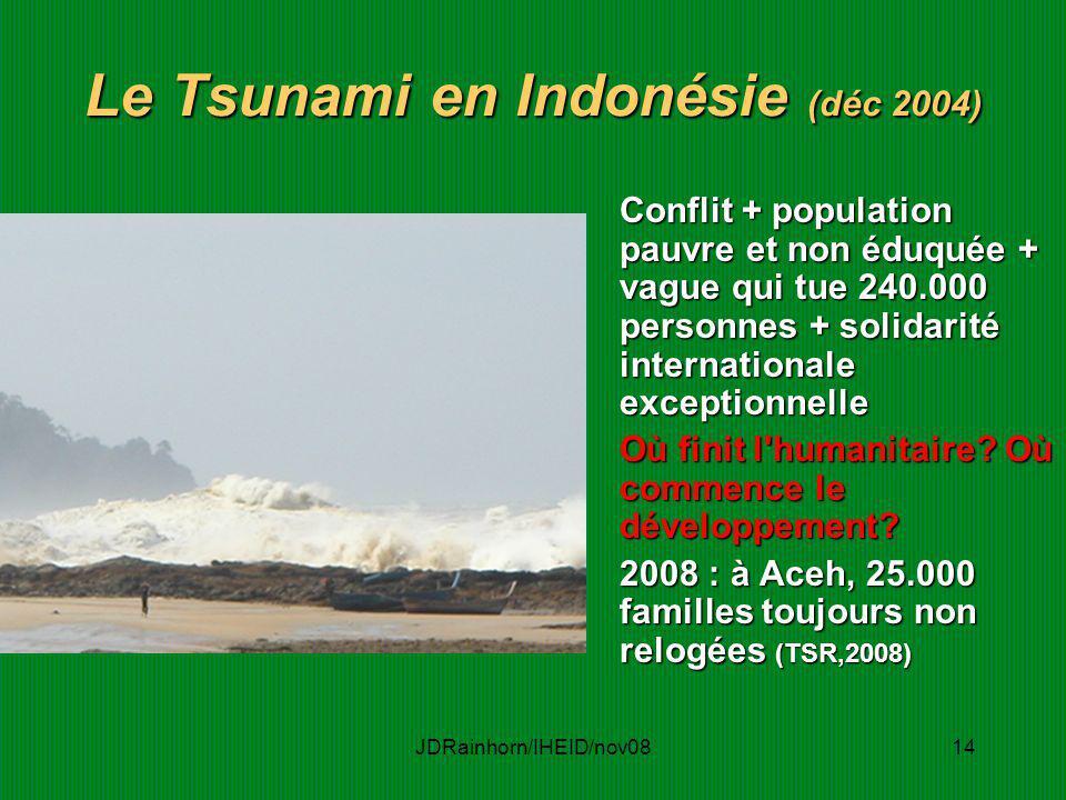 Le Tsunami en Indonésie (déc 2004)