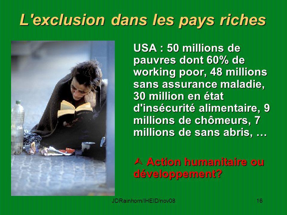 L exclusion dans les pays riches