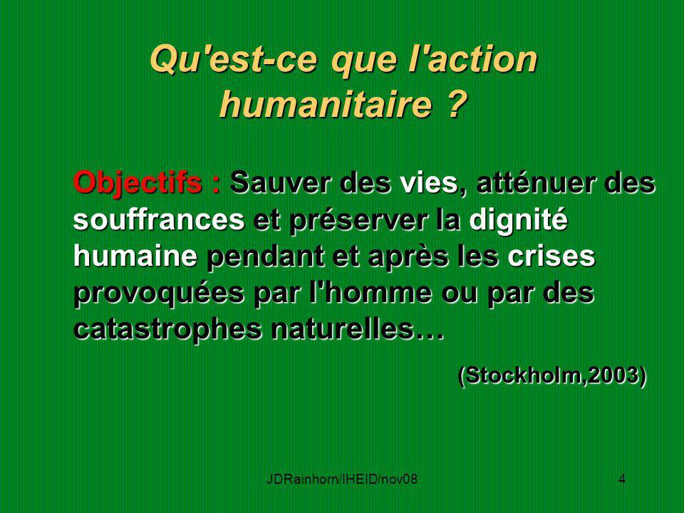 Qu est-ce que l action humanitaire