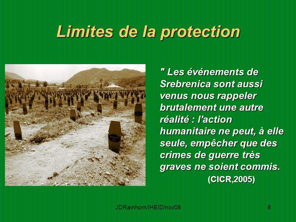 Limites de la protection