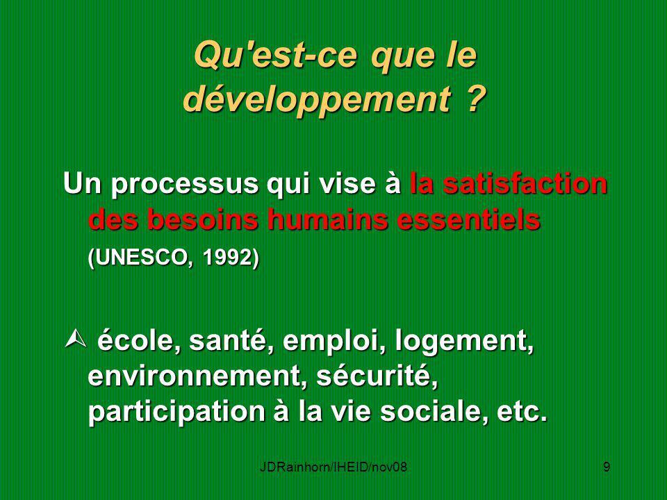 Qu est-ce que le développement