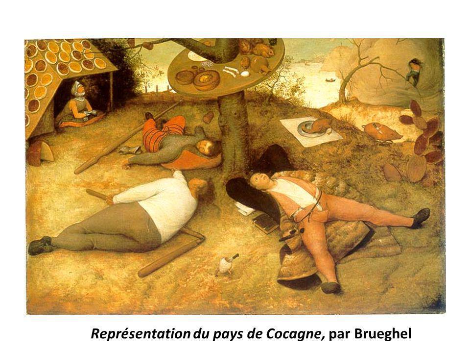 Représentation du pays de Cocagne, par Brueghel
