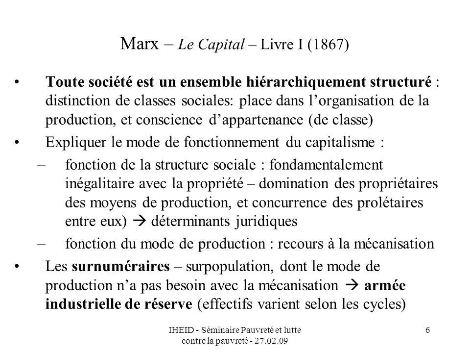 Marx – Le Capital – Livre I (1867)