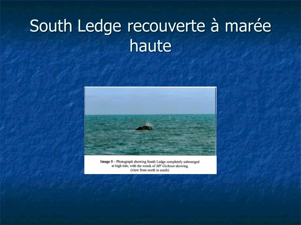South Ledge recouverte à marée haute