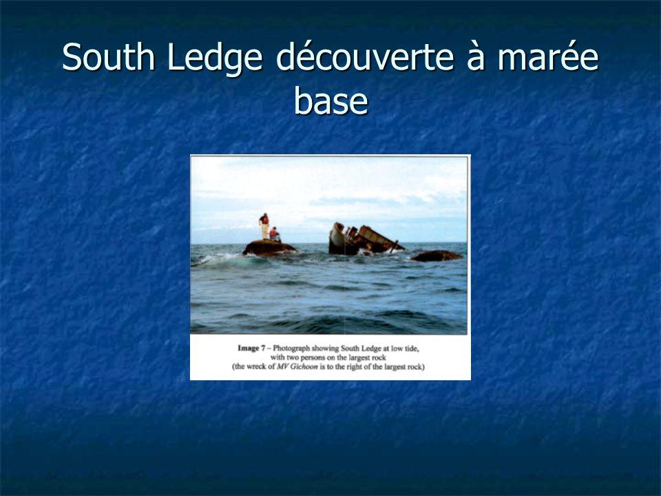 South Ledge découverte à marée base