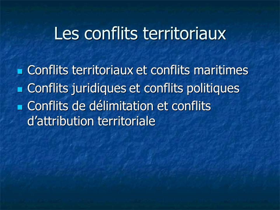 Les conflits territoriaux