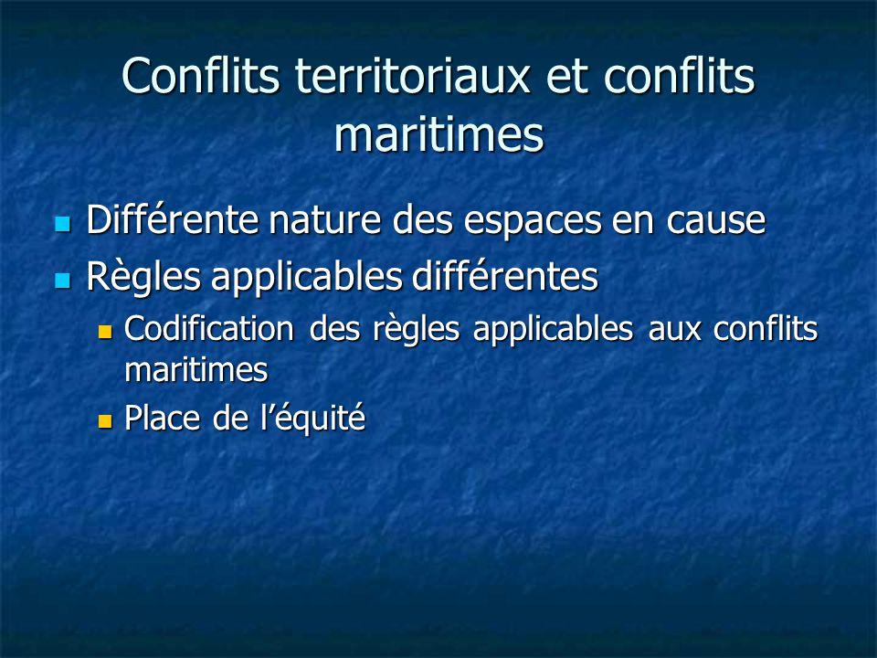 Conflits territoriaux et conflits maritimes