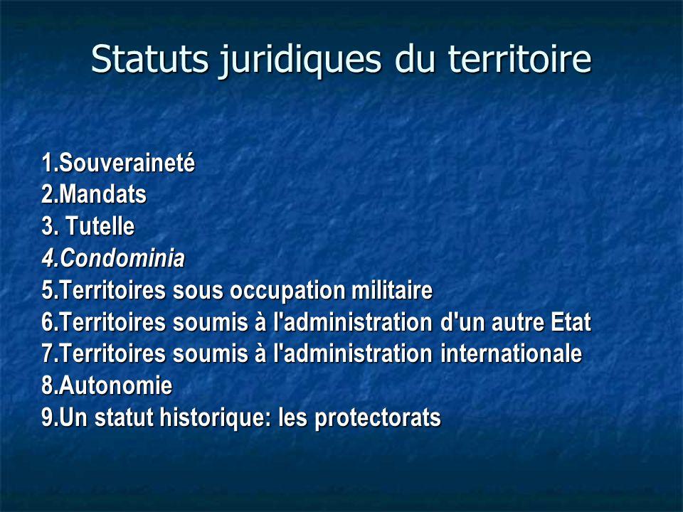 Statuts juridiques du territoire
