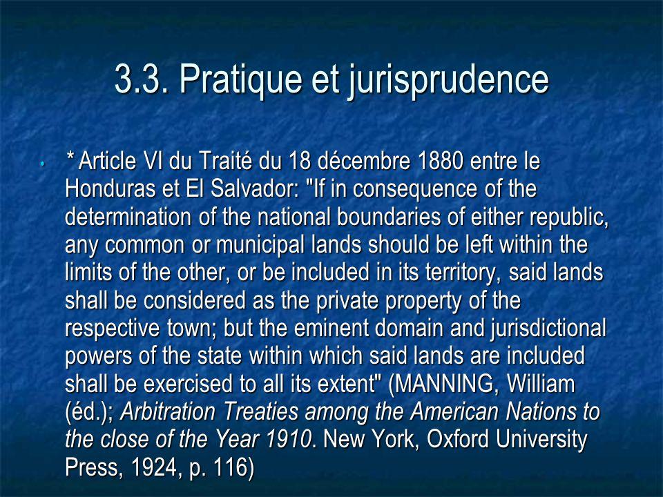 3.3. Pratique et jurisprudence