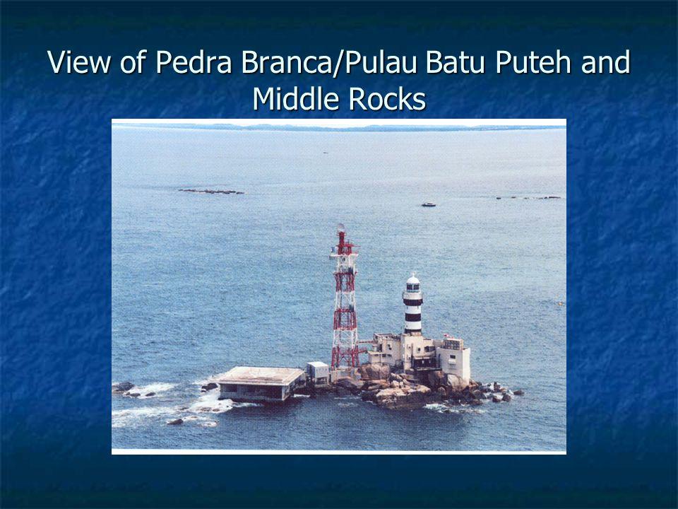 View of Pedra Branca/Pulau Batu Puteh and Middle Rocks