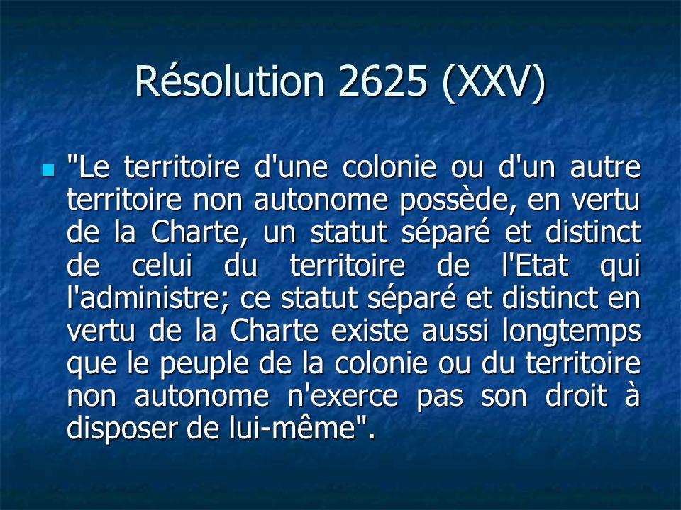 Résolution 2625 (XXV)