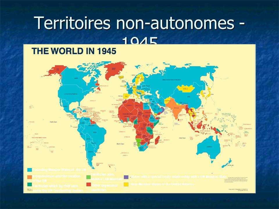 Territoires non-autonomes - 1945