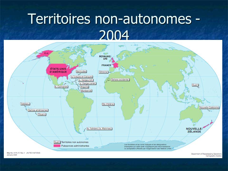 Territoires non-autonomes - 2004